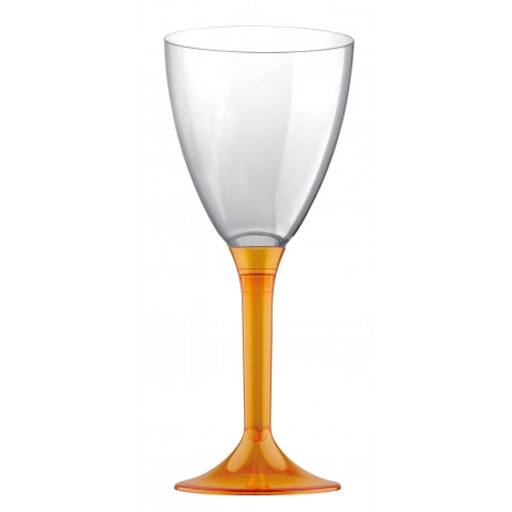 Verre à vin plastique Orange Transparent