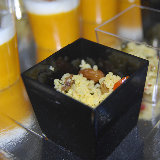 verrine cubique en plastique noire