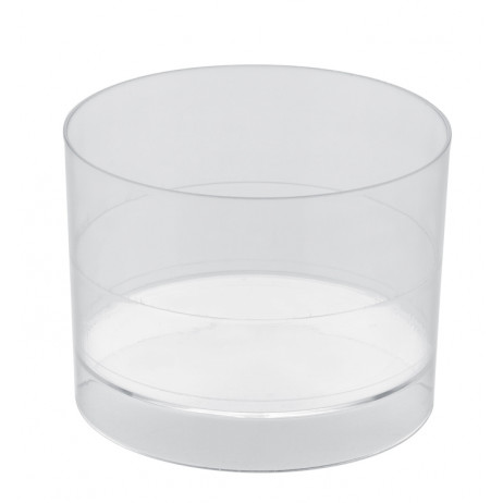 Verrine en plastique ronde transparent vaisselle jetable for Piscine ronde plastique