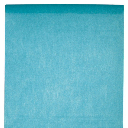 nappe jetable turquoise 10mx120cm en papier intiss 233 badaboum