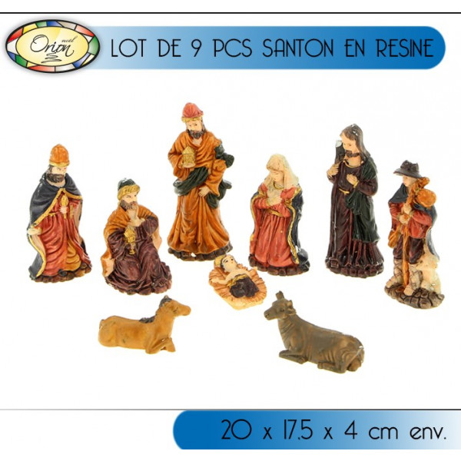 9 santons en r sine pas cher accessoire noel badaboum - Creche de noel pas cher ...
