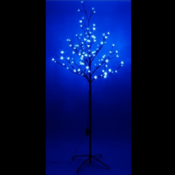 arbre lumineux exterieur 108led bleu deco noel pas cher badaboum. Black Bedroom Furniture Sets. Home Design Ideas