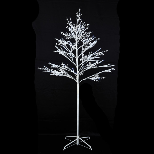 arbre lumineux de noel 120 boules de neige led blanc badaboum. Black Bedroom Furniture Sets. Home Design Ideas