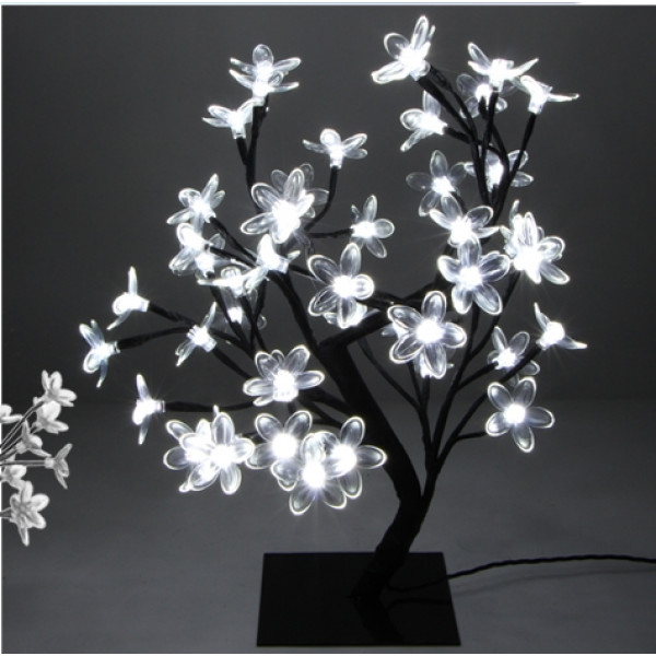 Arbre lumineux de noel exterieur blanc 48led deco noel for Decoration noel exterieur d occasion