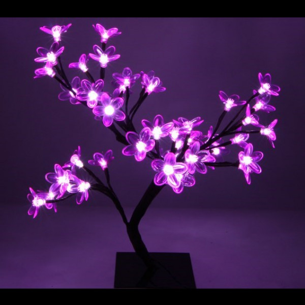 arbre lumineux exterieur rose 48led deco noel pas cher badaboum. Black Bedroom Furniture Sets. Home Design Ideas