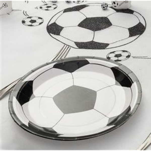 Assiette Carton Football 23cm Vaisselle Jetable Pas Cher
