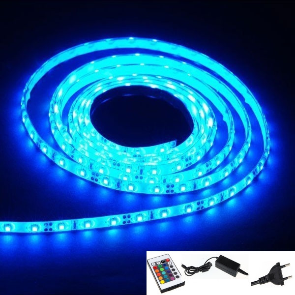 Vente bande ruban led lumineux flexible plat 150 led bleu for Tube lumineux exterieur