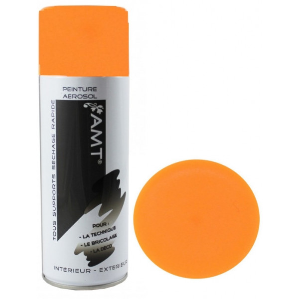 achat peinture orange fluo en bombe aerosol 400ml badaboum. Black Bedroom Furniture Sets. Home Design Ideas