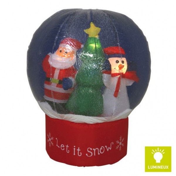 Decoration de noel boule de neige for Decoration de noel exterieur gonflable