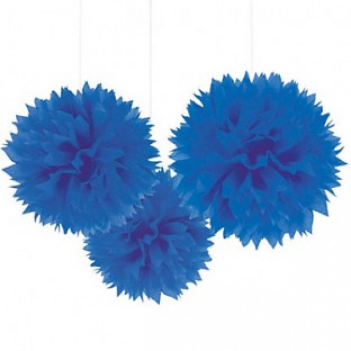 boule pompon papier de soie bleu roi decoration mariage badaboum. Black Bedroom Furniture Sets. Home Design Ideas