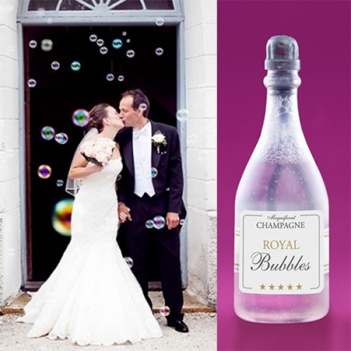 acheter bouteille de champagne bulle de savon pour mariage badaboum. Black Bedroom Furniture Sets. Home Design Ideas