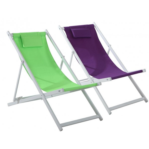 Chaise Longue Aluminium TINOS 3 Couleurs