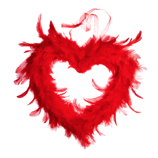 coeur rouge en plume 22 cm ajoure deco salle mariage badaboum. Black Bedroom Furniture Sets. Home Design Ideas