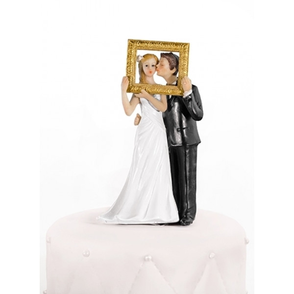 couple de mari s photobooth avec cadre dor decoration mariage badaboum. Black Bedroom Furniture Sets. Home Design Ideas