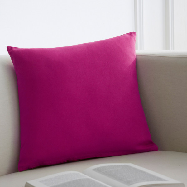 coussin 40x40 cm fuchsia coussins d co pas cher badaboum. Black Bedroom Furniture Sets. Home Design Ideas