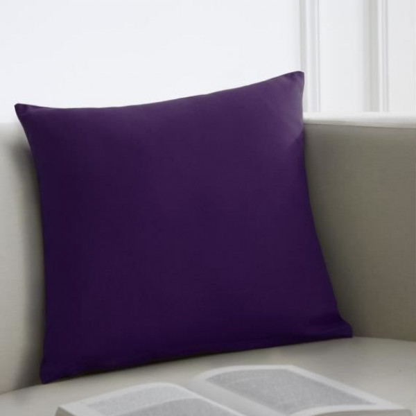 coussin deco violet 40x40cm coussin canap pas cher. Black Bedroom Furniture Sets. Home Design Ideas