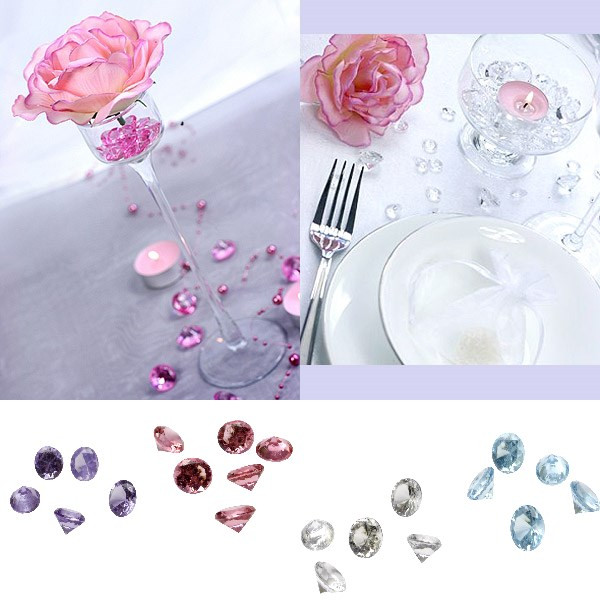 Diamant d coratif pas cher pour deco de table mariage for Decoration de table porte photo