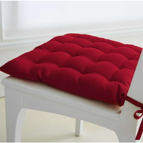 Galette De Chaise Rouge Matelasse 40 X Cm TODAY
