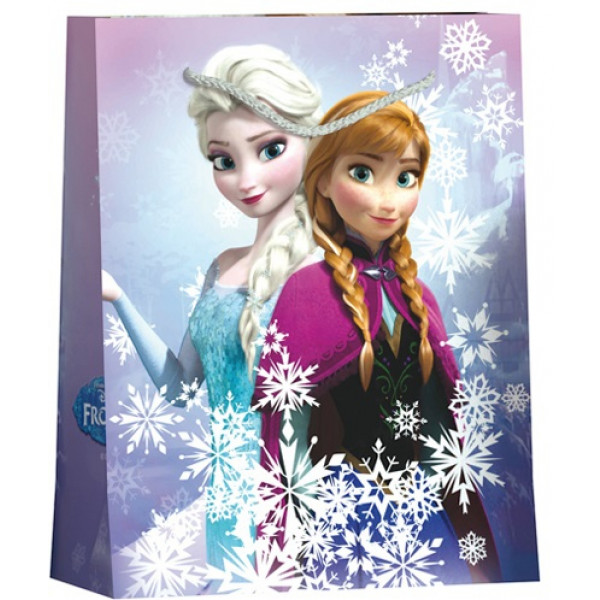 grand sac cadeau de noel disney reine des neige pochette. Black Bedroom Furniture Sets. Home Design Ideas