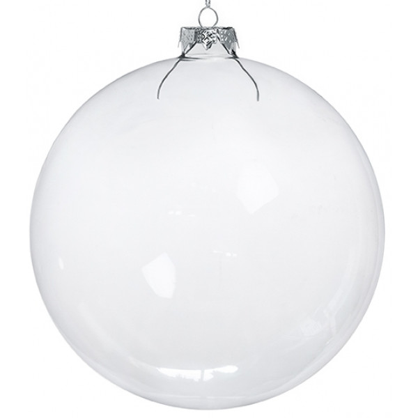 grosse boule de noel en verre transparent 15cm deco noel. Black Bedroom Furniture Sets. Home Design Ideas