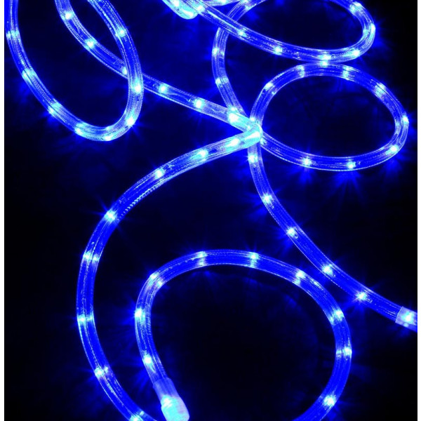 guirlande de noel led en tube lumineux bleu 6 m tres deco. Black Bedroom Furniture Sets. Home Design Ideas