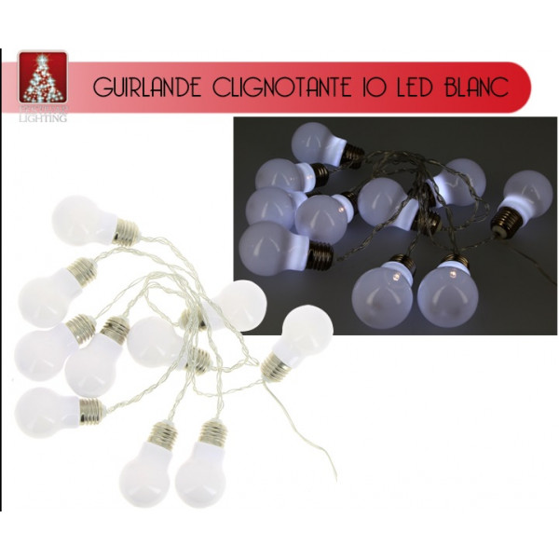 f364fdbc4050a Guirlande lumineuse a pile 10 LED forme Ampoule