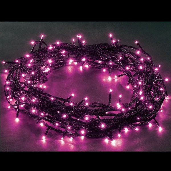 guirlande lumineuse de noel 300 led fuchsia decoration noel badaboum. Black Bedroom Furniture Sets. Home Design Ideas