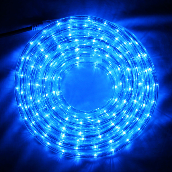 Guirlande tube lumineux led 12 m tres bleu decoration for Tube lumineux led exterieur