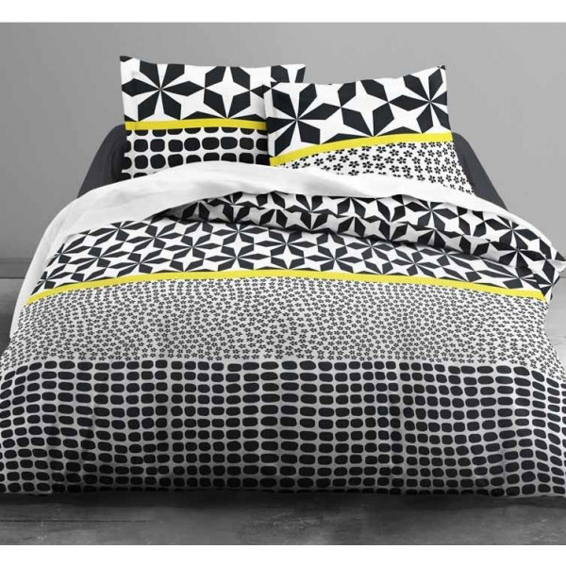 housse de couette 220x240 mawira zipp e kileo linge de maison badaboum. Black Bedroom Furniture Sets. Home Design Ideas