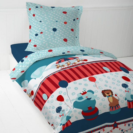 housse de couette 1 personne enfant du cirque linge de. Black Bedroom Furniture Sets. Home Design Ideas