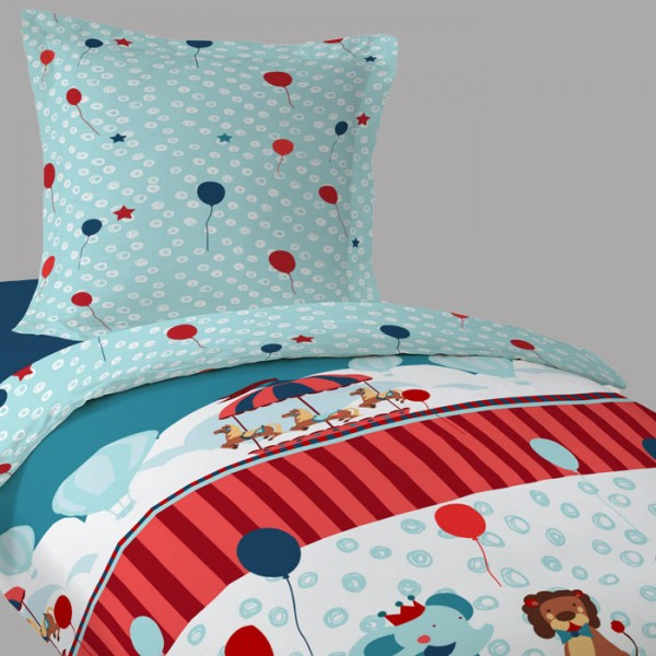 housse de couette 1 personne enfant du cirque linge de. Black Bedroom Furniture Sets. Home Design Ideas
