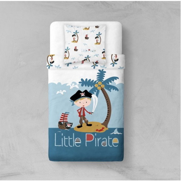 housse de couette pas cher 1 personne little pirate badaboum. Black Bedroom Furniture Sets. Home Design Ideas