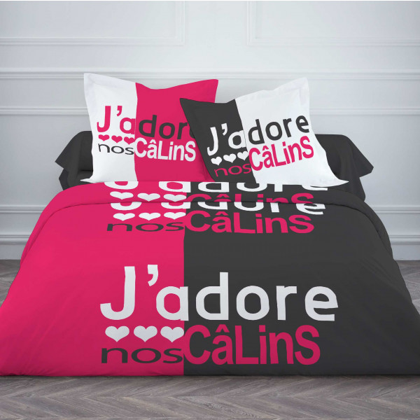 housse de couette pas cher 220x240 calins linge de lit today badaboum. Black Bedroom Furniture Sets. Home Design Ideas
