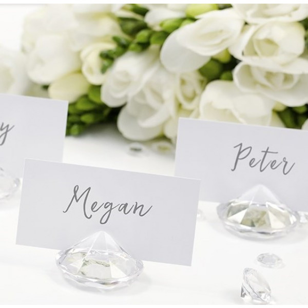 marque place diamant transparent deco table mariage. Black Bedroom Furniture Sets. Home Design Ideas