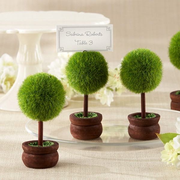 mini arbre marque place mariage avec boule porte nom badaboum. Black Bedroom Furniture Sets. Home Design Ideas