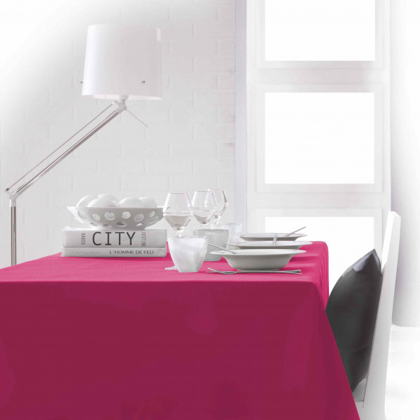 nappe anti tache rectangulaire fuchsia 150 x 250 cm badaboum. Black Bedroom Furniture Sets. Home Design Ideas