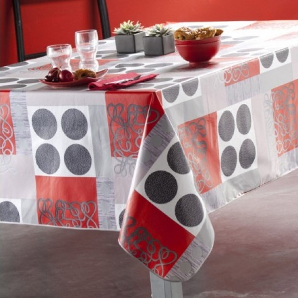 nappe caligomme au m tre flag protege table imprim badaboum. Black Bedroom Furniture Sets. Home Design Ideas