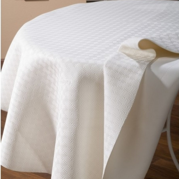 prot ge table caligomme blanc nappe sur mesure badaboum. Black Bedroom Furniture Sets. Home Design Ideas
