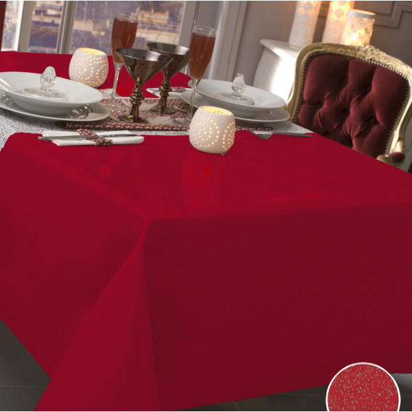nappe caligomme au m tre paillet e rouge protege table pas cher badaboum. Black Bedroom Furniture Sets. Home Design Ideas