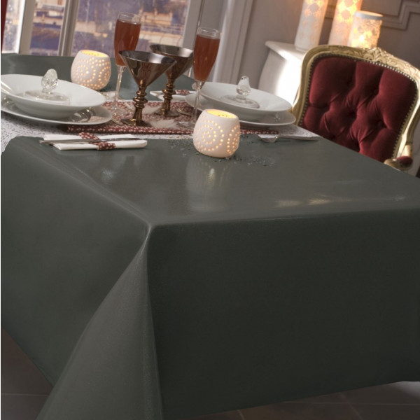 nappe caligomme au m tre paillet gris protege table pas. Black Bedroom Furniture Sets. Home Design Ideas