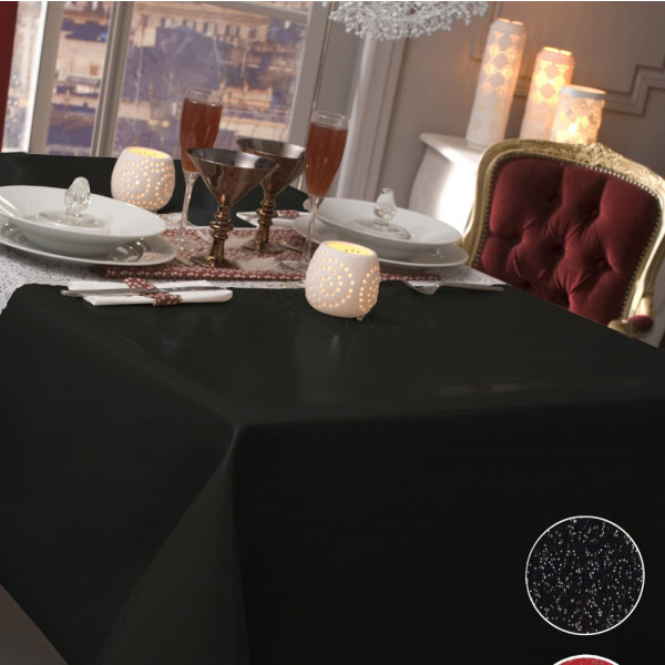 nappe caligomme au m tre paillet noir protege table pas cher badaboum. Black Bedroom Furniture Sets. Home Design Ideas