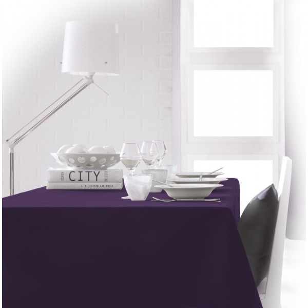 acheter nappe rectangulaire violet 150x250cm anti tache badaboum. Black Bedroom Furniture Sets. Home Design Ideas