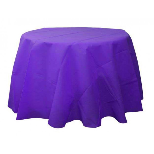 achat nappe ronde 240 cm pour mariage en tissu intiss violet badaboum. Black Bedroom Furniture Sets. Home Design Ideas