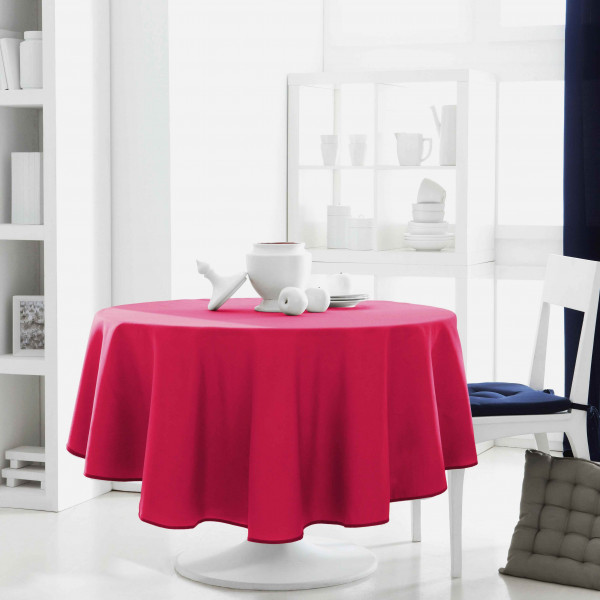 nappe ronde anti tache 180 cm fuchsia nappe ronde pas cher. Black Bedroom Furniture Sets. Home Design Ideas