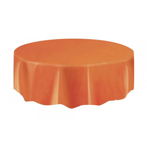 nappe ronde en plastique orange 210cm vaisselle jetable. Black Bedroom Furniture Sets. Home Design Ideas