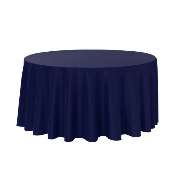 nappe ronde jetable 240cm bleu marine en tissu intiss badaboum. Black Bedroom Furniture Sets. Home Design Ideas