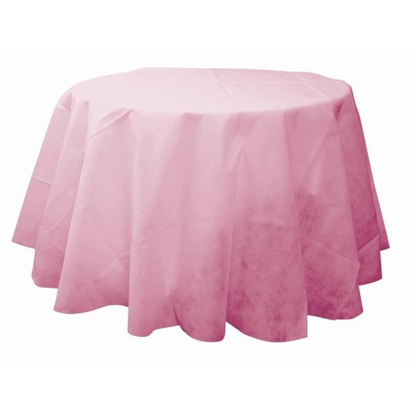 nappe ronde rose 240cm en tissu intiss pas cher badaboum. Black Bedroom Furniture Sets. Home Design Ideas