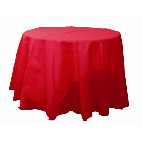 acheter nappe ronde rouge 240cm en tissu intiss badaboum. Black Bedroom Furniture Sets. Home Design Ideas