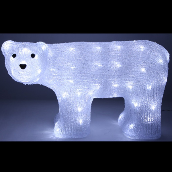 ours polaire lumineux 80 led blanc decoration noel exterieur badaboum. Black Bedroom Furniture Sets. Home Design Ideas