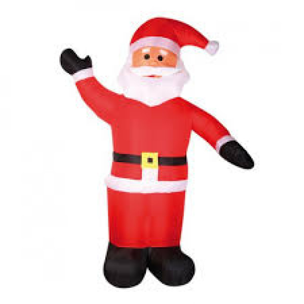 pere noel gonflable exterieur 240cm decoration noel